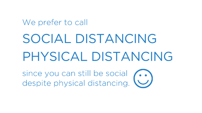 social distancing physical distancing