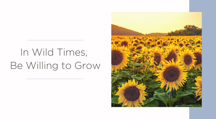 In Wild Times, Be Willing to Grow