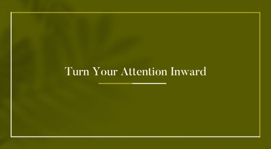 Turn Your Attention Inward